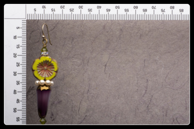 Handmade Lovely BOHO Flower Dangle or Drop Earrings